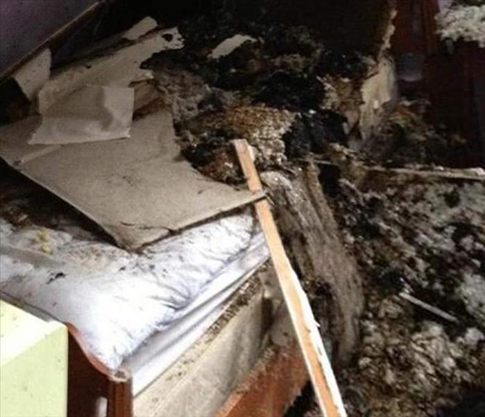 Lake Norman Fire Damage to a Bedroom
