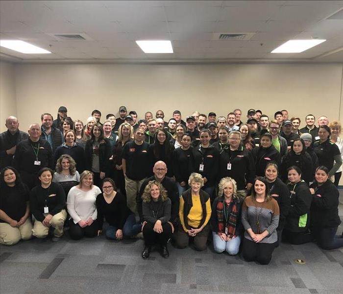 Group photo of SERVPRO employees